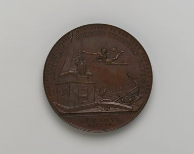 Bailey Banks & Biddle Company, Philadelphia, PA (American). <em>Holland Society Medal</em>, 1905. Bronze, Medal: 1 3/4 x 1 3/4 x 1/8 in. (4.4 x 4.4 x 0.3 cm). Brooklyn Museum, Bequest of Mrs. George Hadden, 52.79.14. Creative Commons-BY (Photo: Brooklyn Museum, 52.79.14_side1_PS2.jpg)