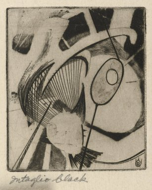 Frederick Gerhard Becker (American, 1913-2004). <em>Hooks and Eyes</em>, 1947. Etching and engraving in intaglio black Brooklyn Museum, Dick S. Ramsay Fund, 52.90.10. © artist or artist's estate (Photo: Brooklyn Museum, 52.90.10_PS2.jpg)