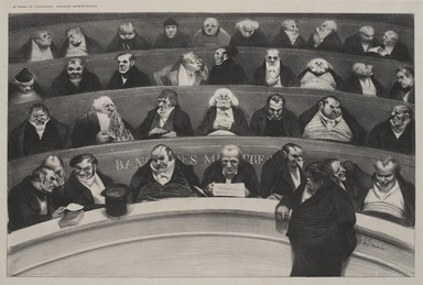 Honoré Daumier (French, 1808-1879). <em>The Legislative Belly (Le Ventre législatif)</em>, January 1834. Lithograph on wove paper, Sheet: 12 x 17 13/16 in. (30.5 x 45.2 cm). Brooklyn Museum, Ella C. Woodward Memorial Fund, 52.90.3 (Photo: , 52.90.3_PS9.jpg)