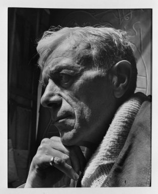 Fritz Henle (American, 1909-1993). <em>Georges Braque</em>. Photograph Brooklyn Museum, Gift of the artist, 53.13.4. © artist or artist's estate (Photo: Brooklyn Museum, 53.13.4_acetate_bw.jpg)