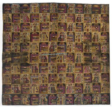 Wari. <em>Tapestry Panel</em>, 600-1000. Cotton, camelid fiber, 39 1/4 x 41 3/8 in. (99.7 x 105.1 cm). Brooklyn Museum, Frank L. Babbott Fund, 53.147. Creative Commons-BY (Photo: Brooklyn Museum, 53.147_PS1.jpg)
