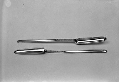 Hester Bateman (English, active in London, 1774-1789). <em>Marrow Spoon</em>, 1786. Silver Brooklyn Museum, Gift of Mr. and Mrs. Louis Holland in memory of Simon Holland, 53.153a. Creative Commons-BY (Photo: , 53.153a-b_acetate_bw.jpg)