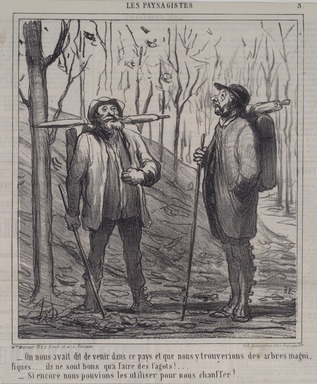 Honoré Daumier (French, 1808-1879). <em>On Nous Avait Dit de Venir Dans Ce Pays...</em>, December 17, 1864. Lithograph on newsprint, Sheet: 16 7/8 x 11 3/8 in. (42.9 x 28.9 cm). Brooklyn Museum, A. Augustus Healy Fund, 53.166.18 (Photo: Brooklyn Museum, 53.166.18.jpg)