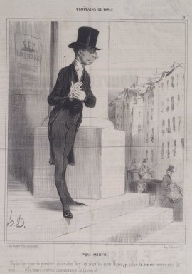 Honoré Daumier (French, 1808-1879). <em>Pique - Assiette</em>, December 25, 1841. Lithograph on newsprint, Sheet: 13 3/4 x 9 9/16 in. (34.9 x 24.3 cm). Brooklyn Museum, A. Augustus Healy Fund, 53.166.19 (Photo: Brooklyn Museum, 53.166.19.jpg)