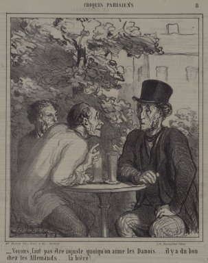 Honoré Daumier (French, 1808-1879). <em>Voyons, Faut Pas Être Injuste...</em>, May 12, 1864. Lithograph on newsprint, Sheet: 11 1/2 x 10 1/16 in. (29.2 x 25.6 cm). Brooklyn Museum, A. Augustus Healy Fund, 53.166.25 (Photo: Brooklyn Museum, 53.166.25.jpg)