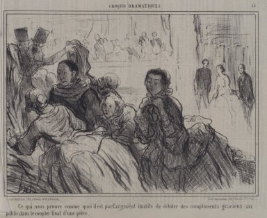Honoré Daumier (French, 1808-1879). <em>Ce Qui Nous Prouve Comme Quoi Il Est... Inutile...</em>, May 23, 1857. Lithograph on newsprint, Sheet: 9 7/8 x 14 7/16 in. (25.1 x 36.7 cm). Brooklyn Museum, A. Augustus Healy Fund, 53.166.8 (Photo: Brooklyn Museum, 53.166.8.jpg)