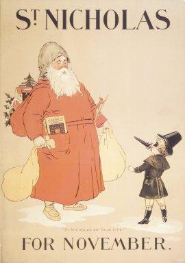 Unknown. <em>St. Nicholas Poster</em>, ca. 1895. Lithograph on paper, Sheet: 20 15/16 x 14 9/16 in. (53.2 x 37 cm). Brooklyn Museum, Dick S. Ramsay Fund, 53.167.21 (Photo: Brooklyn Museum, 53.167.21_transp1909.jpg)