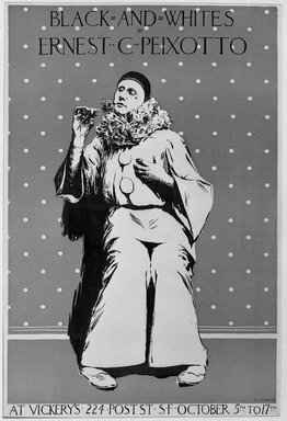 Ernest C. Peixotto (American, 1869-1940). <em>Poster</em>, ca. 1894-1898. Lithograph on wove paper, Sheet: 19 x 13 1/16 in. (48.2 x 33.2 cm). Brooklyn Museum, Dick S. Ramsay Fund, 53.167.33 (Photo: Brooklyn Museum, 53.167.33_acetate_bw.jpg)