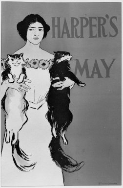 Edward Penfield (American, 1866-1925). <em>Harper's Poster - May 1896</em>, 1896. Lithograph on wove paper, Sheet: 17 15/16 x 11 7/8 in. (45.5 x 30.1 cm). Brooklyn Museum, Dick S. Ramsay Fund, 53.167.4 (Photo: Brooklyn Museum, 53.167.4_acetate_bw.jpg)