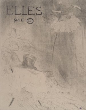 Henri de Toulouse-Lautrec (French, 1864-1901). <em>Couverture for Elles</em>, 1896. Lithograph on Japan paper, 20 7/8 x 16 7/16 in. (53 x 41.7 cm). Brooklyn Museum, Gift of Millicent Huttleston Rogers, 53.8.2 (Photo: Brooklyn Museum, 53.8.2.jpg)
