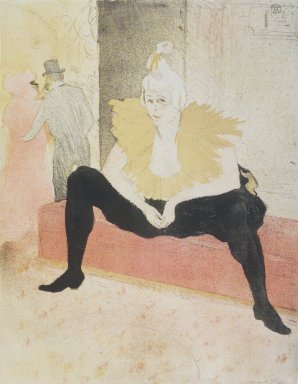 Henri de Toulouse-Lautrec (French, 1864-1901). <em>Seated Clowness (La Clownesse assise)</em>, 1896. Lithograph on wove paper, 20 3/4 x 15 3/4 in. (52.7 x 40 cm). Brooklyn Museum, Gift of Millicent Huttleston Rogers, 53.8.7 (Photo: Brooklyn Museum, 53.8.7_transpc002.jpg)