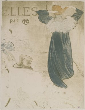 Henri de Toulouse-Lautrec (French, 1864-1901). <em>Frontispiece for Elles</em>, 1896. Lithograph on wove paper, 20 1/2 x 15 13/16 in. (52 x 40.1 cm). Brooklyn Museum, Gift of Millicent Huttleston Rogers, 53.8.9 (Photo: Brooklyn Museum, 53.8.9.jpg)