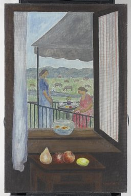 Abraham Walkowitz (American, born Russia, 1878-1965). <em>View from my Window</em>, 1931. Oil on canvas, 40 x 26 in. (101.6 x 66 cm). Brooklyn Museum, Gift of the artist, 53.96 (Photo: Brooklyn Museum, 53.96_PS1.jpg)