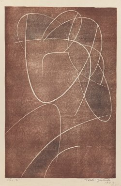 Yoshida Toshi (Japanese, 1911-1995). <em>Head of a Woman</em>, 1952. Woodblock print on paper, 14 9/16 x 9 7/16 in. (37 x 24 cm). Brooklyn Museum, Henry L. Batterman Fund, 54.111. © artist or artist's estate (Photo: Brooklyn Museum, 54.111_IMLS_PS3.jpg)