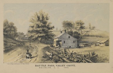 Hayward and Lepine. <em>Battle Pass, Vally Grove</em>, ca. 1866. Lithograph, Image: 3 3/4 x 6 1/2 in. (9.5 x 16.5 cm). Brooklyn Museum, Dick S. Ramsay Fund, 54.137.3 (Photo: Brooklyn Museum, 54.137.3_PS2.jpg)