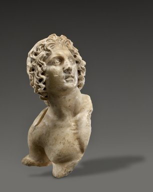 <em>Alexander the Great</em>, 100 B.C.E. – 100 C.E. Marble, 3 1/2 x 2 x 1 1/2 in. (8.9 x 5.1 x 3.8 cm). Brooklyn Museum, Charles Edwin Wilbour Fund, 54.162. Creative Commons-BY (Photo: Brooklyn Museum (Gavin Ashworth,er), 54.162_edited_Gavin_Ashworth_photograph.jpg)