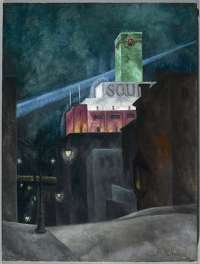Isabel Lydia Whitney (American, 1884-1962). <em>The Emerald Tower</em>, 1927-1928. Oil on canvas, 24 x 18 in. (61 x 45.7 cm). Brooklyn Museum, Gift of Mrs. James H. Hayes, 54.18 (Photo: Brooklyn Museum, 54.18_PS2.jpg)