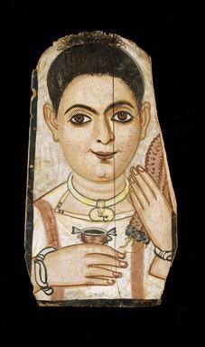 <em>Portrait of a Young Person</em>, 200-230 C.E. Wood, tempera, 11 3/16 x 6 3/16 in. (28.4 x 15.7 cm). Brooklyn Museum, Charles Edwin Wilbour Fund, 54.197 (Photo: Brooklyn Museum, 54.197_edited_SL3.jpg)