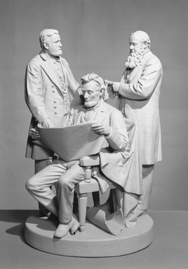 John Rogers (American, 1829-1904). <em>The Council of War</em>, 1868. Plaster, height: 23 1/2 in.  (59.7 cm). Brooklyn Museum, Gift of Mr. and Mrs. Roger L. Simons, by exchange, 54.206. Creative Commons-BY (Photo: Brooklyn Museum, 54.206_acetate_bw.jpg)