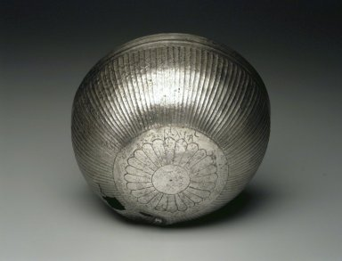 <em>Bowl Inscribed for a Goddess</em>, ca. 410 B.C.E. Silver, 3 1/4 x Diam. 6 9/16 in. (8.3 x 16.7 cm). Brooklyn Museum, Charles Edwin Wilbour Fund, 54.50.36. Creative Commons-BY (Photo: Brooklyn Museum, 54.50.36_transp5431.jpg)