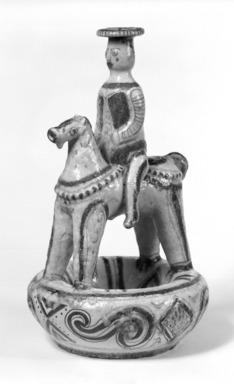 Guido Gambone. <em>Jug</em>, 20th century. Ceramic, 10 x 17 in. (25.4 x 43.2 cm). Brooklyn Museum, Gift of the Italian Government, 54.64.25. Creative Commons-BY (Photo: Brooklyn Museum, 54.64.25_bw.jpg)
