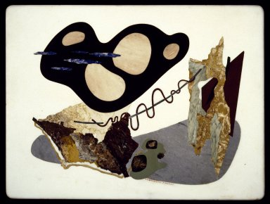 Enrico Prampolini (Italian, 1894-1965). <em>Table Top</em>, ca. 1949. Marble and hard stone inlay, 19 1/2 × 25 3/4 × 3/4 in., 36 lb. (49.5 × 65.4 × 1.9 cm, 16.33kg). Brooklyn Museum, Gift of the Italian Government, 54.65.3. Creative Commons-BY (Photo: Brooklyn Museum, 54.65.3_SL3.jpg)