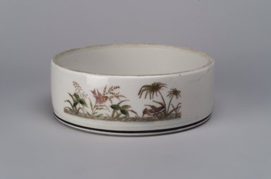 Union Porcelain Works (1863-ca. 1922). <em>Bowl</em>, ca. 1880. Porcelain, 2 1/4 x 6 3/8 x 6 3/8 in. (5.7 x 16.2 x 16.2 cm). Brooklyn Museum, 54.73. Creative Commons-BY (Photo: Brooklyn Museum, 54.73.jpg)