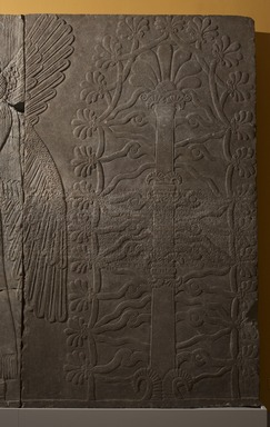 Assyrian. <em>Sacred Tree</em>, ca. 883-859 B.C.E. Gypsum stone, 89 7/8 x 53 9/16 in. (228.3 x 136 cm). Brooklyn Museum, Purchased with funds given by Hagop Kevorkian and the Kevorkian Foundation, 55.150. Creative Commons-BY (Photo: Brooklyn Museum, 55.150_at_PS11.jpg)