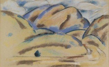 Marsden Hartley (American, 1877-1943). <em>Landscape, New Mexico</em>, ca. 1918. Pastel on paper, 17 1/8 x 27 7/16 in. (43.5 x 69.7 cm). Brooklyn Museum, Gift of Mrs. Albert Hackett, 55.159 (Photo: Brooklyn Museum, 55.159_PS1.jpg)