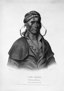 Peter Duval. <em>Payta Kootha</em>, 1836. Hand-colored lithograph on paper Brooklyn Museum, Gift of Elizabeth Crawford in memory of M. D. C. Crawford, 55.239.2 (Photo: Brooklyn Museum, 55.239.2_bw.jpg)
