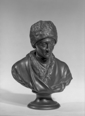 Wedgwood & Bentley (1768-1780). <em>Portrait Bust</em>. Basaltes Brooklyn Museum, Gift of Emily Winthrop Miles, 55.25.18. Creative Commons-BY (Photo: Brooklyn Museum, 55.25.18_acetate_bw.jpg)
