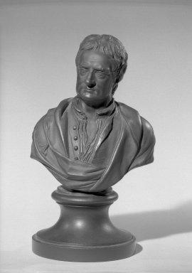Wedgwood & Bentley (1768-1780). <em>Bust of Sir Isaac Newton</em>. Basaltes Brooklyn Museum, Gift of Emily Winthrop Miles, 55.25.19. Creative Commons-BY (Photo: Brooklyn Museum, 55.25.19_acetate_bw.jpg)