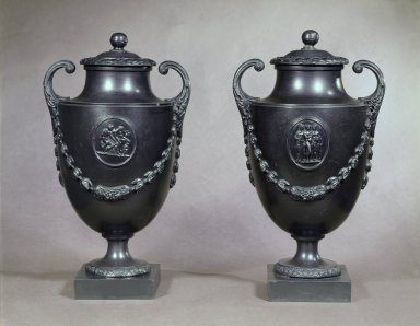 <em>Pair of Urns</em>, ca. 1770. Brooklyn Museum, Gift of Emily Winthrop Miles, 55.25.1a-b. Creative Commons-BY (Photo: Brooklyn Museum, 55.25.1a-b.jpg)