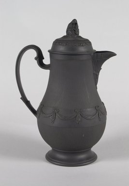 <em>Pitcher with Cover</em>, ca. 1790. Basaltes, 9 3/4 in. (24.8 cm). Brooklyn Museum, Gift of Emily Winthrop Miles, 55.25.5a-b. Creative Commons-BY (Photo: Brooklyn Museum, 55.25.5a-b_PS5.jpg)