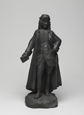 Josiah Wedgwood & Sons Ltd. (founded 1759). <em>Full Figure Statuette</em>. Basaltes, 12 1/4 × 5 1/2 × 4 1/2 in. (31.1 × 14 × 11.4 cm). Brooklyn Museum, Gift of Emily Winthrop Miles, 55.25.6. Creative Commons-BY (Photo: , 55.25.6_PS9.jpg)