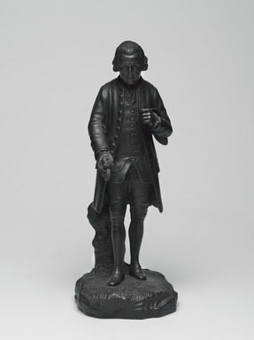 Josiah Wedgwood & Sons Ltd. (founded 1759). <em>Full Figure Statuette</em>, ca.1785. Basalt (stoneware), 11 × 16 × 4 1/2 in. (27.9 × 40.6 × 11.4 cm). Brooklyn Museum, Gift of Emily Winthrop Miles, 55.25.7. Creative Commons-BY (Photo: , 55.25.7_PS9.jpg)