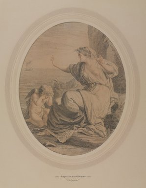 Angelica Kauffmann (Swiss, 1741-1807). <em>Calypso</em>. Watercolor on wove paper, 12 x 9 1/4 in. (30.5 x 23.5 cm). Brooklyn Museum, Gift of Emily Winthrop Miles, 55.9.31a (Photo: , 55.9.31a_PS9.jpg)