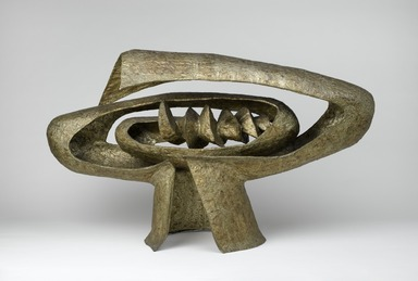 Seymour Lipton (American, 1903-1986). <em>Earth Forge II</em>, 1955. Nickel silver over steel, 31 1/8 x 52 5/8 x 19 1/4 in.  (79.1 x 133.7 x 48.9 cm). Brooklyn Museum, Dick S. Ramsay Fund, 56.188. © artist or artist's estate (Photo: Brooklyn Museum, 56.188_PS2.jpg)