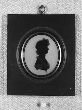 <em>Silhouette of Bust Portrait of Girl</em>. Brooklyn Museum, Gift of Emily Winthrop Miles, 56.192.12 (Photo: Brooklyn Museum, 56.192.12_acetate_bw.jpg)