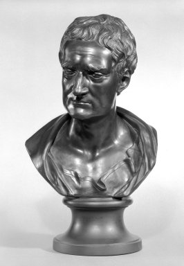 <em>Portrait Bust of Newton</em>. Wedgwood and other black basalt Brooklyn Museum, Gift of Emily Winthrop Miles, 56.192.28. Creative Commons-BY (Photo: Brooklyn Museum, 56.192.28_bw.jpg)