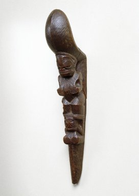Marquesan. <em>Stilt Step (Tapuvae)</em>, late 18th century. Wood, 15 x 2 5/8 x 4 5/8 in. (38.1 x 6.7 x 11.7 cm). Brooklyn Museum, Gift of Arturo and Paul Peralta-Ramos, 56.6.106. Creative Commons-BY (Photo: Brooklyn Museum, 56.6.106_SL1.jpg)
