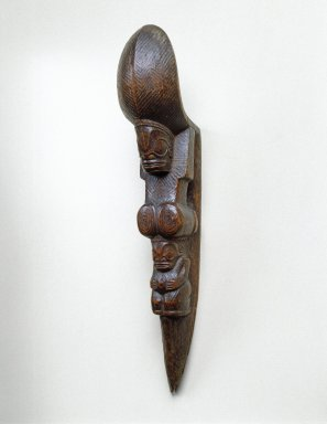 Marquesan. <em>Stilt Step (Tapuvae)</em>, late 19th or early 20th century. Wood, 14 1/4 x 2 1/2 x 4 1/4 in. (36.2 x 6.4 x 10.8 cm). Brooklyn Museum, Gift of Arturo and Paul Peralta-Ramos, 56.6.22. Creative Commons-BY (Photo: Brooklyn Museum, 56.6.22_SL1.jpg)