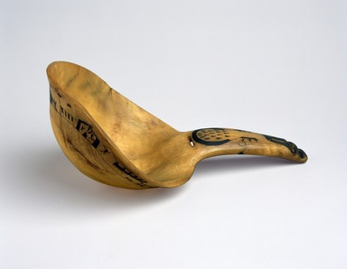 Eskimo. <em>Horn Ladle</em>, late 19th century. Horn (possibly mountain sheep)