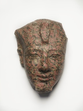 <em>Amunhotep II</em>, ca. 1426-1400 B.C.E. Granite, 12 1/2 × 9 1/2 × 6 in., 28 lb. (31.8 × 24.1 × 15.2 cm, 12.7kg). Brooklyn Museum, Charles Edwin Wilbour Fund, 56.7. Creative Commons-BY (Photo: , 56.7_PS9.jpg)