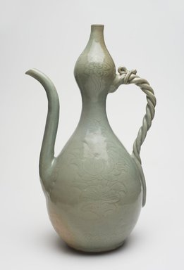 <em>Ewer</em>, 12th century. Porcelaneous stoneware with celadon glaze, Height: 11 13/16 in. (30 cm). Brooklyn Museum, Museum Collection Fund, 57.141. Creative Commons-BY (Photo: , 57.141_PS11.jpg)