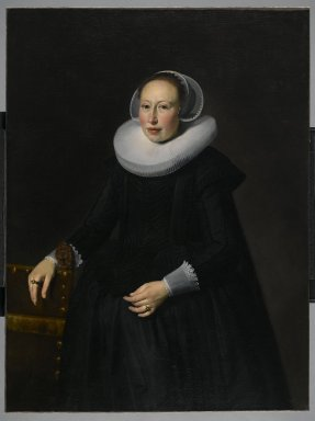 Thomas de Keyser (Dutch, 1596/97-1667). <em>Portrait of Gertrude van Limborch</em>. Oil on canvas, 46 1/8 × 34 1/16 in., 81 lb. (117.2 × 86.5 cm). Brooklyn Museum, Gift of Mrs. J. Fuller Feder, 57.142 (Photo: Brooklyn Museum, 57.142_PS2.jpg)
