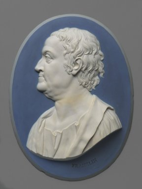 Wedgwood & Bentley (1768-1780). <em>Oval Portrait Plaque</em>, 1777-1779. Jasperware, 10 7/8 x 8 in. (27.6 x 20.3 cm). Brooklyn Museum, Gift of Emily Winthrop Miles, 57.180.4. Creative Commons-BY (Photo: Brooklyn Museum, 57.180.4_PS1.jpg)