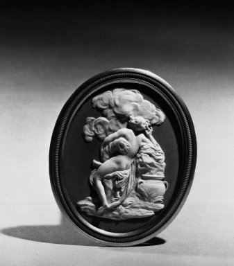 <em>Upright Oval Medallion</em>. Jasperware, bas relief Brooklyn Museum, Gift of Emily Winthrop Miles, 57.180.55. Creative Commons-BY (Photo: Brooklyn Museum, 57.180.55_bw.jpg)