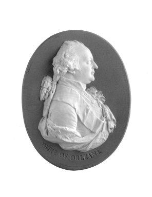 <em>Oval Portrait Medallion</em>, ca. 1790. Jasperware Brooklyn Museum, Gift of Emily Winthrop Miles, 57.180.73. Creative Commons-BY (Photo: Brooklyn Museum, 57.180.73_bw.jpg)