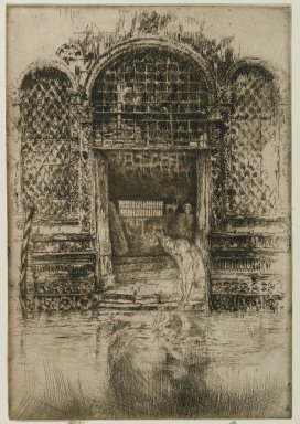 James Abbott McNeill Whistler (American, 1834-1903). <em>The Doorway</em>, 1880. Etching and drypoint on paper, Sheet (trimmed to plate): 11 9/16 x 7 15/16 in. (29.4 x 20.2 cm). Brooklyn Museum, Gift of Mrs. Charles Pratt, 57.188.70 (Photo: Brooklyn Museum, 57.188.70_PS6.jpg)